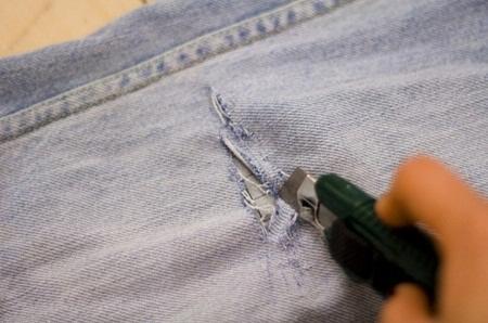 режем джинсы сами