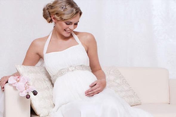 свадебное платье под беременную невесту
